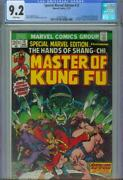 Special Marvel Edition 15 Cgc 9.2 1973 1st Shang-chi Fu Manchu White Pages