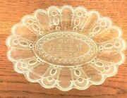 Eapg U.s. Glass Coand039s Kansas Bread Plate Our Daily Bread Clear Pressed Glass