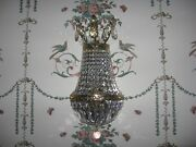 2 Schonbek 2 Tiered Crystal Wall Mounted Sconces Model 1904 Magnificent Rare