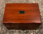 American Reed And Barton Provincial Wooden Silverware Storage Chest Box 2 Drawers