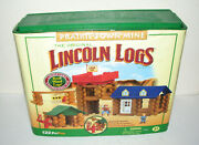 Original Lincoln Logs Prairie Town Mine Building Set Real Wood - Incomplete