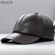 Akizon Malesand039s Sheepskin Leather-based Manufacturers Cap Real Leather-based Hat