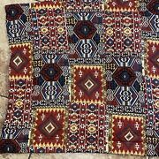Ponderosa Set 2 King Pillow Shams Southwestern Ranch Red Brown Blue Quilted
