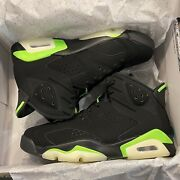 """Air Jordan 6 """"electric Green"""" Casual Basketball Shoes Sz 9 Ct8529-003 Limited"""