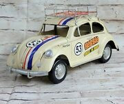 Herbie The Love Bug Decorative Vw Beetle 1/8 Scale Mint New In Box Hot Cast Deal