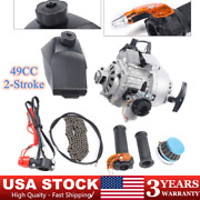 49cc 2-stroke Bicycle Engine Motor Complete Kit For Mini Dirt Bike Motor Scooter