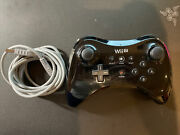 Black Wii U Pro Controller With Charger