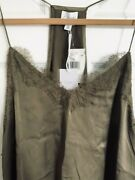 Cami Nyc The Racer Charmeuse Cami Silk Satin Xl White Or Olive Nwt 160 Neiman