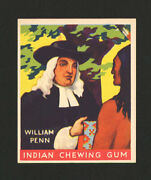 1933 Goudey Indian Gum 56 William Penn From Original Collection