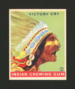 1933 Goudey Indian Gum 88 Victory Cry From Original Collection