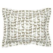 Vintage Equestrian Sport Coopercraft Antique Horse Pillow Sham By Roostery