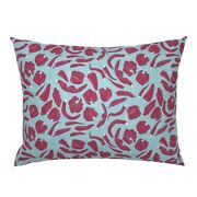 Chili Peppers Food Cooking Red Blue White Spicy Hot Pillow Sham By Roostery