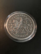 Durerand039s Knight - Silver Hobo Nickels - 5 Oz Antique Silver Proof Coin - Capsule