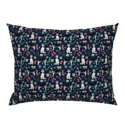 Husky Dog Huskies Dogs Siberian Christmas Pet Portrait Pillow Sham By Roostery