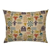 Organic Farm Farmers Market Fresh Corn Tractor Scarecrow Pillow Sham By Roostery