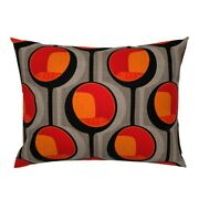 Mod Chair Midcentury Modern Retro Orange Seat Furniture Pillow Sham By Roostery