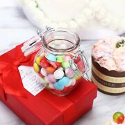 4oz Clear Small Glass Jars W/ Glass Lids And Metal Bails For Favor Candy Wholesa