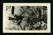 Military Real Photo Postcard Rppc Wwi 1919 Destroyed Farm House Ruins Vintage