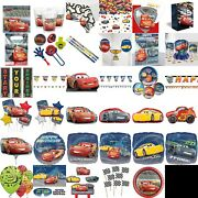 Disney Cars Party Decorations Table Wear Children Plates Cups Balloons Birthday