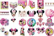Minnie Mouse Birthday Party Decorations Table Wear Children Bbq Summer