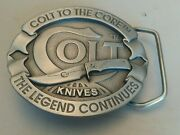 Vintage Colt Knives United Cutlery Belt Buckle. The Legend Continues.