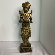 Balinese Dewi Sri Statue Rice Goddess Made Of Chinese Coins C1920andrsquos 16andrdquo Tall