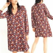 Madewell Button Back Dress In Antique Floral Size S