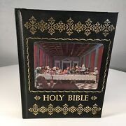 Holy Bible King James Version Large Hc 1976 Illustrated 3d Cover Home Health Ed