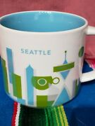 Starbucks You Are Here Collection Coffee Mug City Seattle Limited 14oz 2017 New