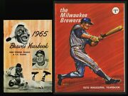 1965 Miwaukee Braves Yearbook Last 1970 Milwaukee Brewers Yearbook First F-g