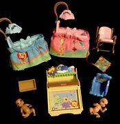 Fisher Price Loving Family 2007 Nursery Bassinets Babies Musical Table And More