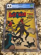 Batman 40 Cgc 4.5 Ow Pages Golden Age Scarce Beauty Classic Joker Cover Invest