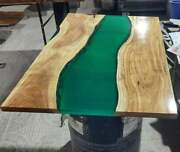 Edge Epoxy Resin Table Premium Quality Walnut Wood Large Din Table Made To Order