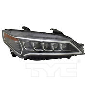 Headlight Front Lamp For 15-17 Acura Tlx Led Right Passenger