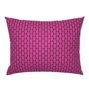 Hot Pink Retro Christmas Oval Large Scale Polka Dot Pillow Sham By Roostery