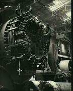 1964 Press Photo Hydro-electric Generator Being Assembled At Plant In Leningrad
