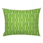 Tennis Outdoor Sports Summer Modern Green Racket Vintage Pillow Sham By Roostery