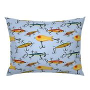 Fishing Lure Hook Bobber Bait Sports Fish Lures Antique Pillow Sham By Roostery