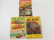 Vintage Lot Of 3 Issues Customs Cars Car Craft And Rods Illustrated 57-8 Magazine