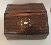 Lovely Antique Inlaid Wooden Writing Box/collectors Box