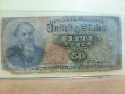 1863 Fr 1376 Fractional Currency 50 Cent - Stanton Portrait-4th Issue