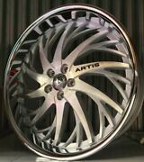26 Inch Silver Brushed Artis Staggered Wheels Rims Blanks 22 24
