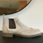 Mens Vintage Foundry Chelsea Boots Brogue Style Sz 10m