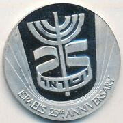 Israel 25th Anniversary State Platinum Medal-1 Oz Pure-w/box And Coa Ships Free