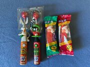 Lot Of 2 Spin Pops Bugs Bunny And Marvin The Martian Lot Of 2 Pez Santa's