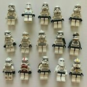 15 Lego Star Wars Clone Snow And Storm Trooper Lot- Build Your Army - Free Ship