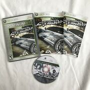 Need For Speed Most Wanted Microsoft Xbox 360, 2005 Platinum Hits Disc Complete