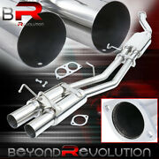 Stainless Steel Catback Exhaust System 3.5 Dual Tips For 1989-1994 Nissan 240sx