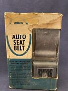 Nos Vintage Sears Allstate Auto Car Seat Belt Silver W Hardware Quick Release