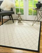 Handmade Wool Sisal Eco-friendly Durable Non-slip Ivory Celano Area Rug 9and039 X 12and039